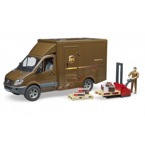 Mercedes Benz Sprinter UPS cu sofer si accesorii, Bruder 02538