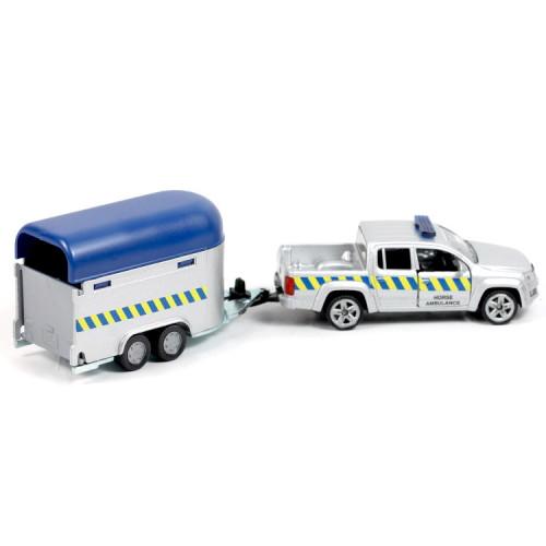 Microbuz metalic Volkswagen, echipaj politia calare, Siku 1:55