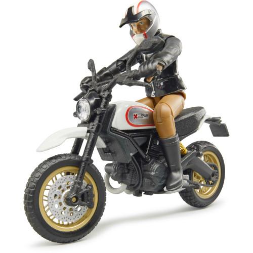 Motocicleta Ducati Desert Sled cu figurina motociclist, Bruder 63051
