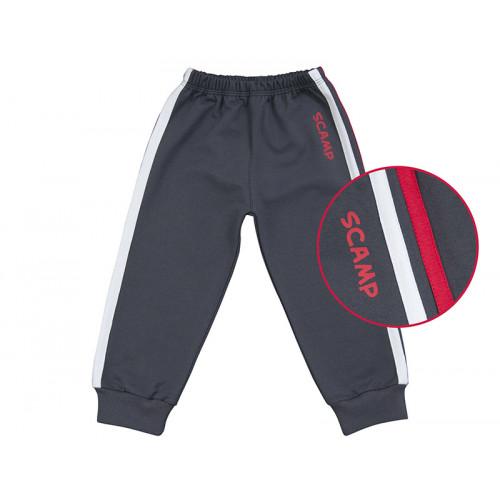Pantaloni trening cu banda lata in talie, negru cu dungi