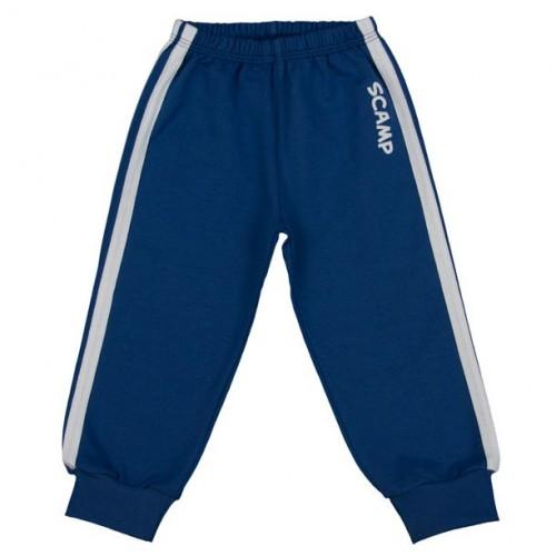 Pantaloni trening, albastru inchis-alb