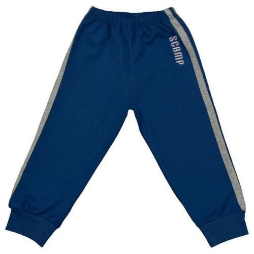 Pantaloni trening, albastru inchis-gri