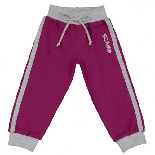 Pantaloni trening cu banda lata in talie, mov-gri