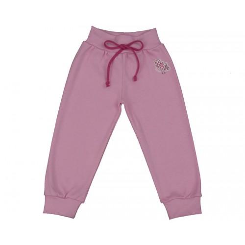 Pantalonaşi cu bandă lată în talie roz iaurt