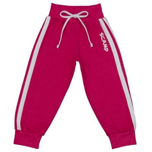 Pantaloni trening cu banda lata in talie, roz fuchsia