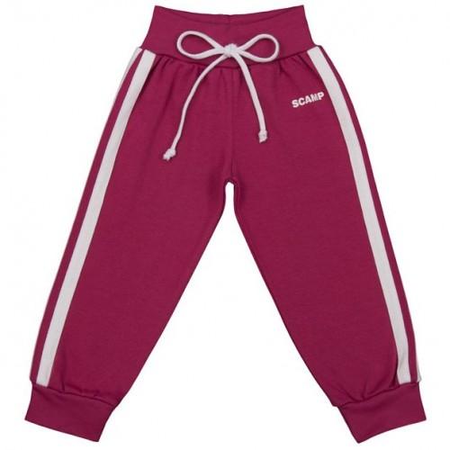 Pantaloni trening cu banda lata in talie, fete, purpuriu