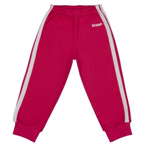 Pantaloni trening copii cu elastic in talie, fete, rosu