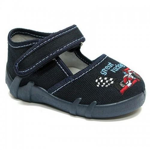 Pantofi baietel, din material textil, bleumarin, Great racing