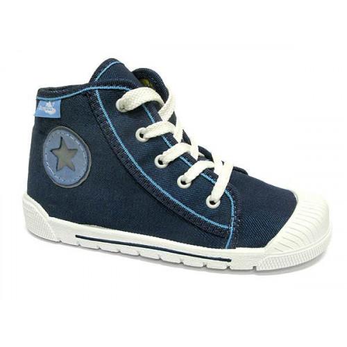 Pantofi tenisi baieti, din material textil, albastru cu scai, Star