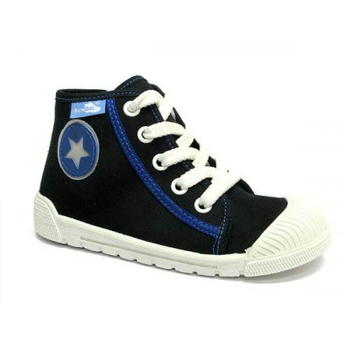 Pantofi tenisi baieti, din material textil, negru cu scai, Star