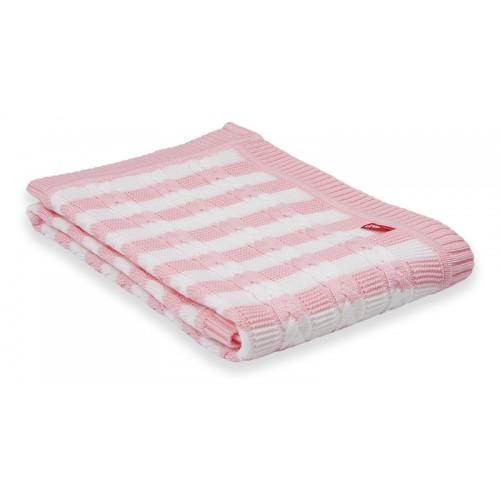 Paturica tricotata, roz, 75 x 100 cm