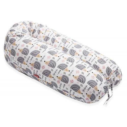 Perna Scamp 3 in 1 pentru gravide, alaptat, bebelusi, 160 cm, Hedgehog Grey