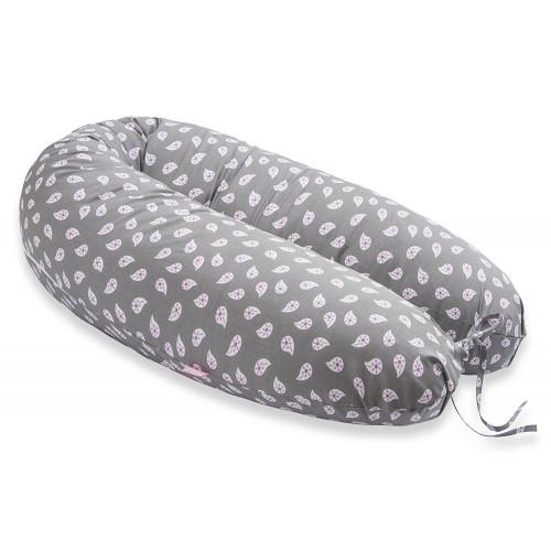 Perna Scamp 3 in 1 pentru gravide, alaptat, bebelusi, 160 cm, gri, Drop