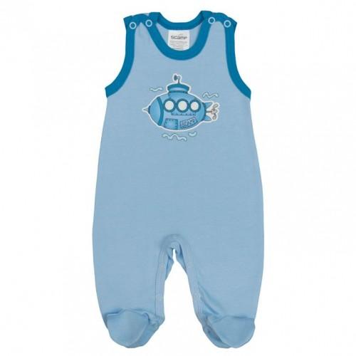 Pijama bebelusi fara maneci, cu botosei, cu motiv submarin