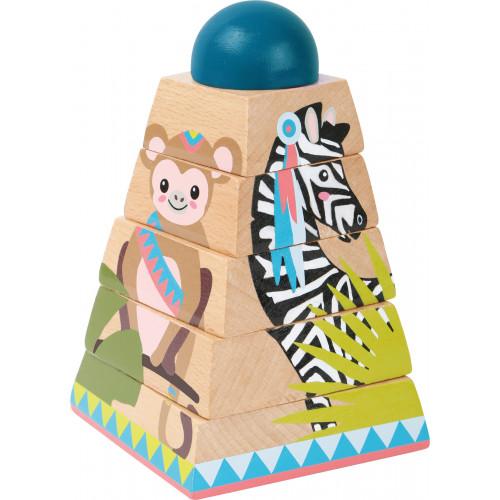 Piramida turn Jungle, din lemn