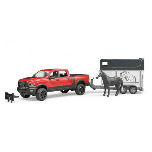 RAM 2500 Pickup cu remorca cai si 1 cal, Bruder 02501