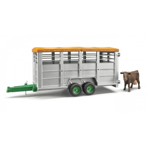 Remorca transport animale cu figurina vaca, Bruder 02227