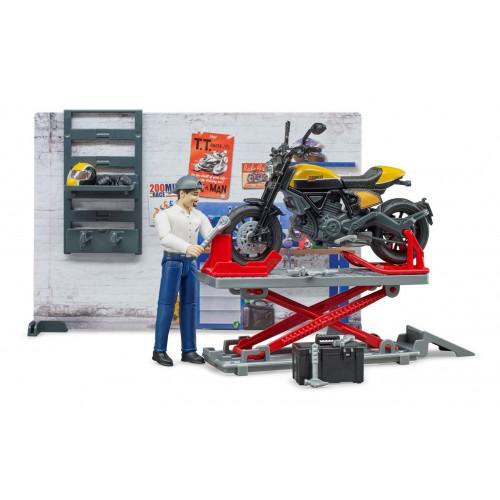 Set atelier de service motociclete Ducati, Bruder 62102