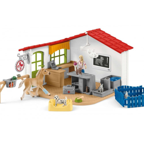 Set figurine Schleich 42502, Cabinet veterinar cu animale de companie
