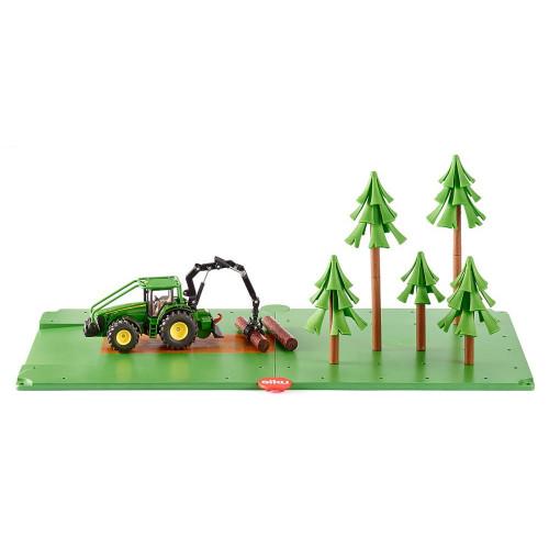 Set forestier cu tractor John Deere, Siku World 5605