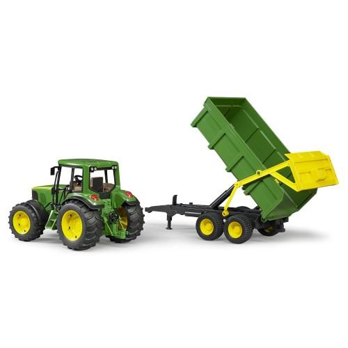 Tractor Bruder 02058, Johne Deere 6920 cu remorca