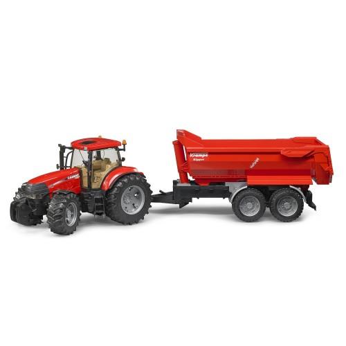 Tractor Bruder 03099 Case IH Puma CVX 230 cu remorca basculabila Krampe