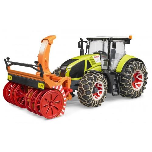Tractor Claas Axion 950 cu freza de deszapezire, Bruder 03017