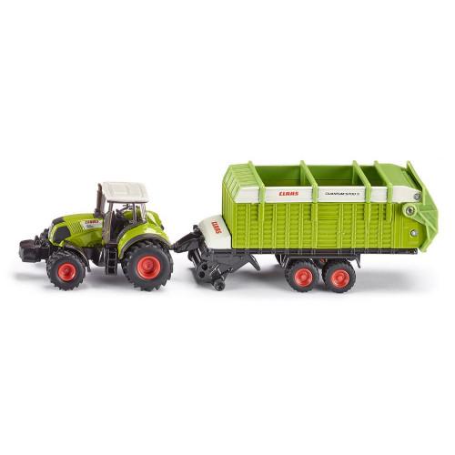 Tractor Claas 850 Axion cu Remorca Claas, Siku 1846