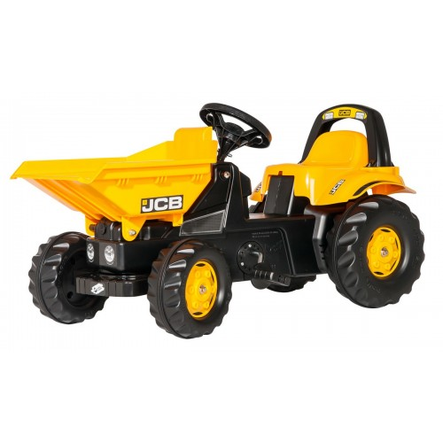 Tractor cu pedale pentru copii, Rolly Toys, RollyKid, JCB Dumper