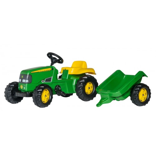 Tractor cu pedale si remorca Rolly Toys 012190, RollyKid John Deere