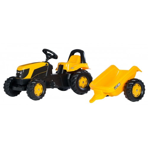Tractor cu pedale si remorca Rolly Toys 012619, RollyKid, JCB