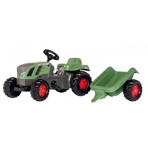 Tractor cu pedale si remorca Rolly Toys 013166, Rollykid Fendt Vario 516