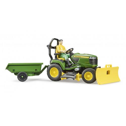 Tractor de cosit John Deere cu remorca si gradinar, Bruder 62104