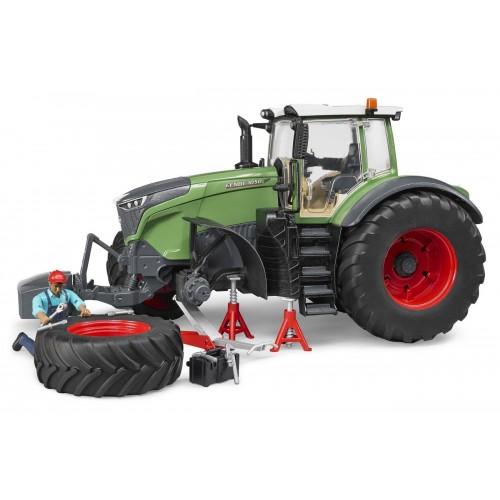 Tractor Fendt 1050 Vario cu figurina mecanic, Bruder 04041