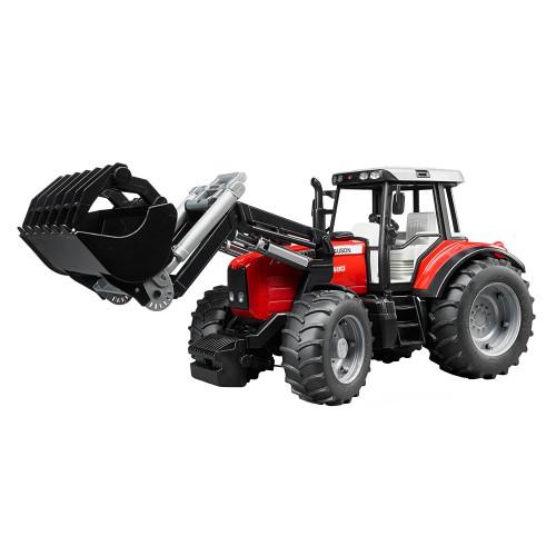 Tractor Massey Ferguson 7480 cu incarcator frontal, Bruder 02042