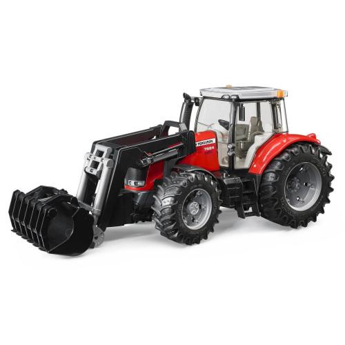 Tractor Massey Ferguson 7624 cu incarcator frontal, Bruder 03047