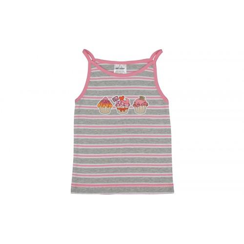 Tricou fetiţe cu brețele subţiri/PO43