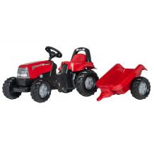 012411 - Tractor cu pedale Rolly Toys, Case CVX 1170 cu remorca rollyKid Trailer