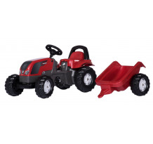 012527 - Tractor cu pedale Rolly Toys, Valtra cu remorca rollyKid