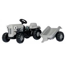 014941 - Tractor fara pedale Rolly Toys, Little Grey Fergie cu remorca