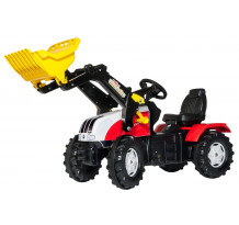 Tractor cu pedale Rolly Toys, Steyr CVT 6230 cu incarcator frontal