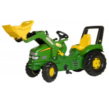 046638 - Tractor cu pedale Rolly Toys, John Deere X-Trac cu incarcator frontal