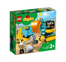 LEGO DUPLO, Camion si excavator pe senile 10931