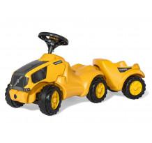 Tractor fara pedale Rolly Toys, Volvo Minitrac cu remorca