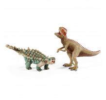 Figurina Schleich 41426, Dinozauri, Saichania si Giganotosaur, mic