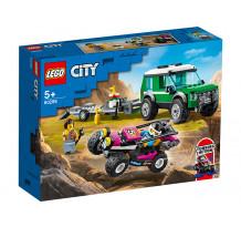 LEGO City Great Vehicles, Transportor de automobile de curse 60288, 210 piese