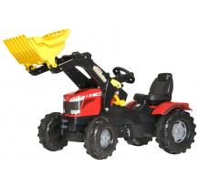 611133 - Tractor cu pedale Rolly Toys, Massey Ferguson 7726 cu incarcator frontal