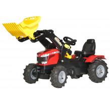Tractor cu pedale Rolly Toys, Massey Ferguson 7726 cu anvelope pneumatice