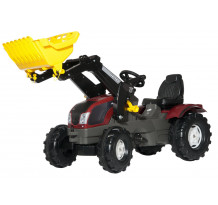 Tractor cu pedale Rolly Toys, Valtra T213 cu incarcator frontal