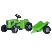 620005 - Tractor cu pedale Rolly Toys, Futura cu remorca
